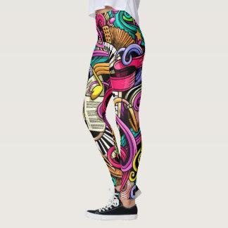 Make Your Own MUSIC Pop Fashion Leggings