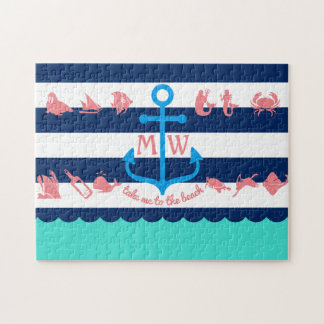 Make Your Own Nautical Summer Fun Anchor Stripes Puzzles