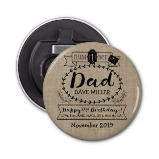 Make Your Own Number 1 Dad Birthday Cute Monogram