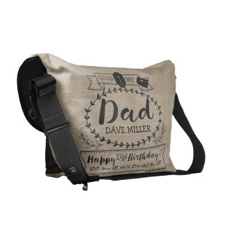 Make Your Own Number 1 Dad Birthday Cute Monogram Commuter Bag