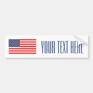 Make your own patriotic usa flag bumper sticker