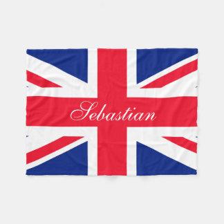 Make Your Own Personalized UK Flag Fleece Blanket