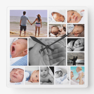 Make Your Own Photo Collage Template Clocks