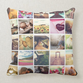 Make your own photo collage throw pillow