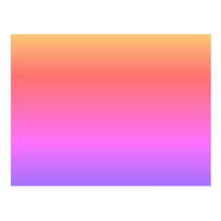 MAKE YOUR OWN POSTCARD Pastel Rainbow Customizable