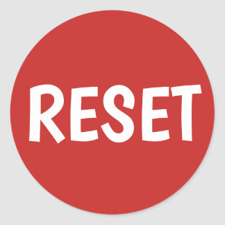 Make Your Own Reset Button Classic Round Sticker
