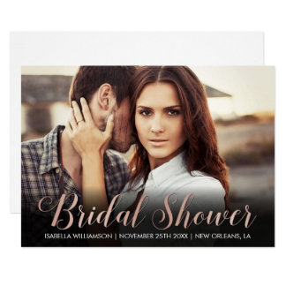 Make Your Own Rose Gold Bridal Shower Image Card