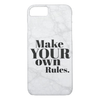 Make Your Own Rules Motivational iPhone 8/7 Case