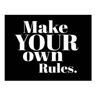 Make Your Own Rules Motivational Postcard
