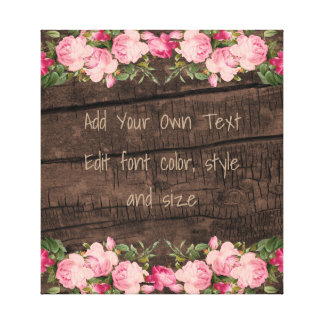 Make your own rustic chic canvas print