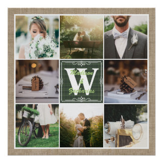 Make Your Own Rustic Wedding Instagram Collage Poster