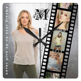 Make Your Own Senior Portrait Retro Film Negative Clocks