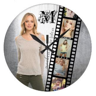 Make Your Own Senior Portrait Retro Film Negative Wall Clocks