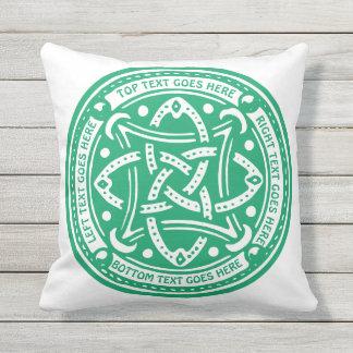 Make Your Own Shamrock Green Celtic Knot Irish Cushion