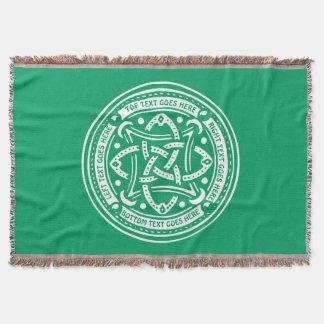Make Your Own Shamrock Green Celtic Knot Irish Throw Blanket