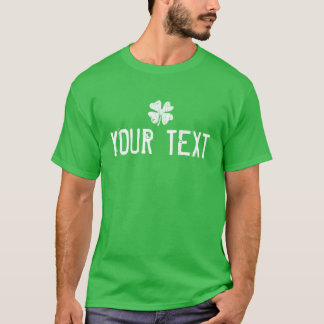 Make your own St Patricks Day shirt with shamrock