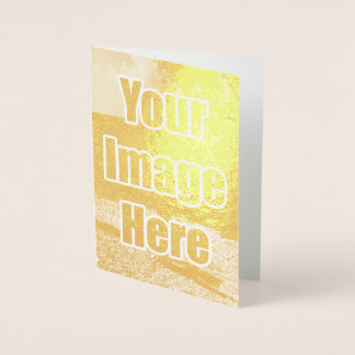 Make your own unique one of a kind personalized foil card