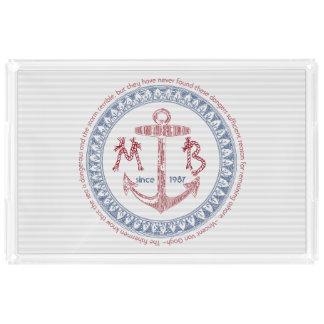 Make Your Own Vintage Anchor Nautical Monogram Acrylic Tray