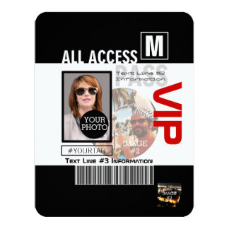 Make Your Own VIP Pass 8 ways to Personalize 11 Cm X 14 Cm Invitation Card