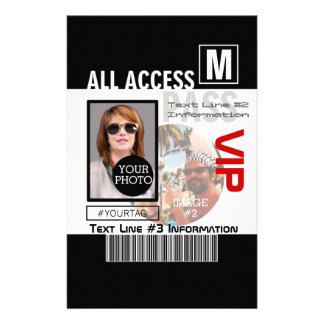 Make Your Own VIP Pass 8 ways to Personalize 14 Cm X 21.5 Cm Flyer