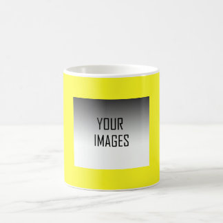 MAKE YOUR OWN YELLOW - PHOTOS BASIC WHITE MUG