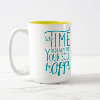 Make Your Soul Happy Two-Tone Mug