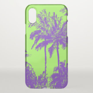 Makena Beach Hawaiian Sketchy Palms Lime iPhone X Case