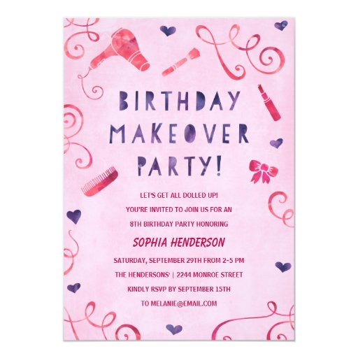 Makeup Party Invitations for adorable invitation design