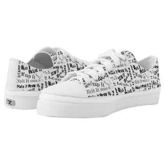 Maker Crafts Typography Print Low Tops