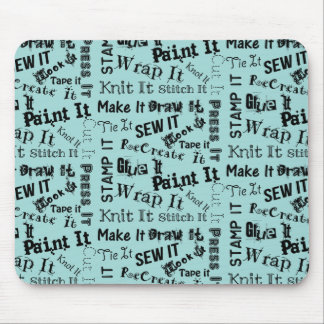 Maker Crafts Typography Print Mouse Pad