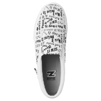 Maker Crafts Typography Print Slip On Shoes