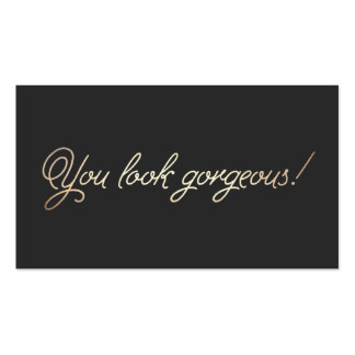 Makeup and Hairstylist Gold Typography Appointment Pack Of Standard Business Cards
