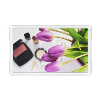 Makeup and Tulip Small Rectangle Vanity Tray