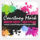 Makeup Artist and Hair Stylist Custom Seals Square Sticker