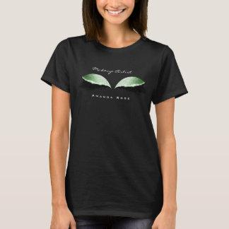 Makeup Artist Beauty Lash Eye Mint Green Glitter T-Shirt