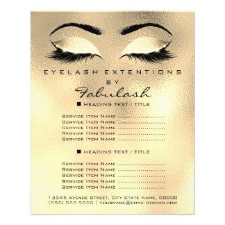 Makeup Artist Beauty Salon Glitter Flyer Browns
