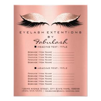 Makeup Artist Beauty Salon Glitter Flyer Coral Lux