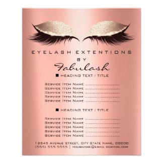 Makeup Artist Beauty Salon Glitter Flyer Coral SPA