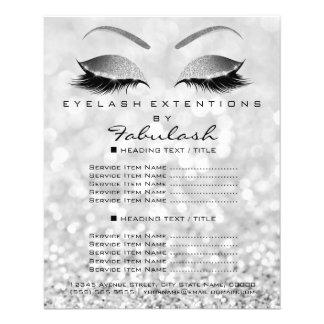 Makeup Artist Beauty Salon Glitter Flyer Gray Silv
