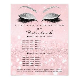 Makeup Artist Beauty Salon Glitter Flyer Pink Gray