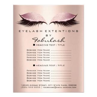 Makeup Artist Beauty Salon Glitter Flyer Pink SPA