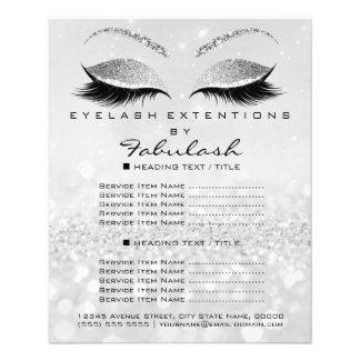 Makeup Artist Beauty Salon Glitter Flyer Silver2