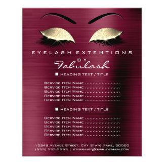 Makeup Artist Beauty Salon Gold Glitter Flyer Lux