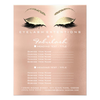 Makeup Artist Beauty Salon Gold Glitter Flyer VIP