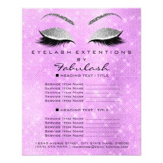 Makeup Artist Beauty Salon Silver Glitter Lavanda6 Flyer