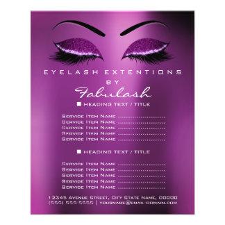 Makeup Artist Beauty Salon Silver Glitter Purple1 Flyer