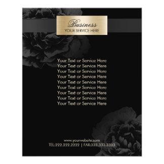 Makeup Artist Black Floral Beauty Salon Brochures 11.5 Cm X 14 Cm Flyer