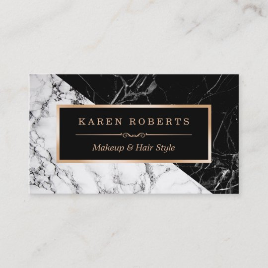 Makeup artist black white marble stunning look business card makeup artist black white marble stunning look business card reheart Images