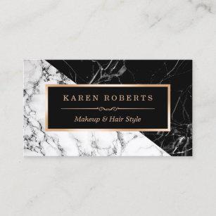 Makeup artist business cards zazzle au makeup artist black white marble stunning look business card colourmoves