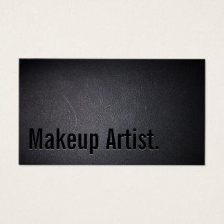 Makeup Artist Bold Text Elegant Dark Business Card